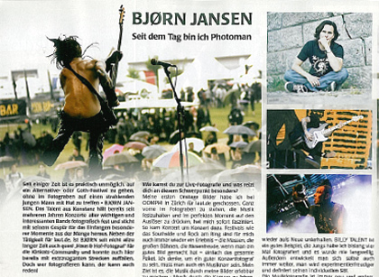 Interview im Gothic Magazine