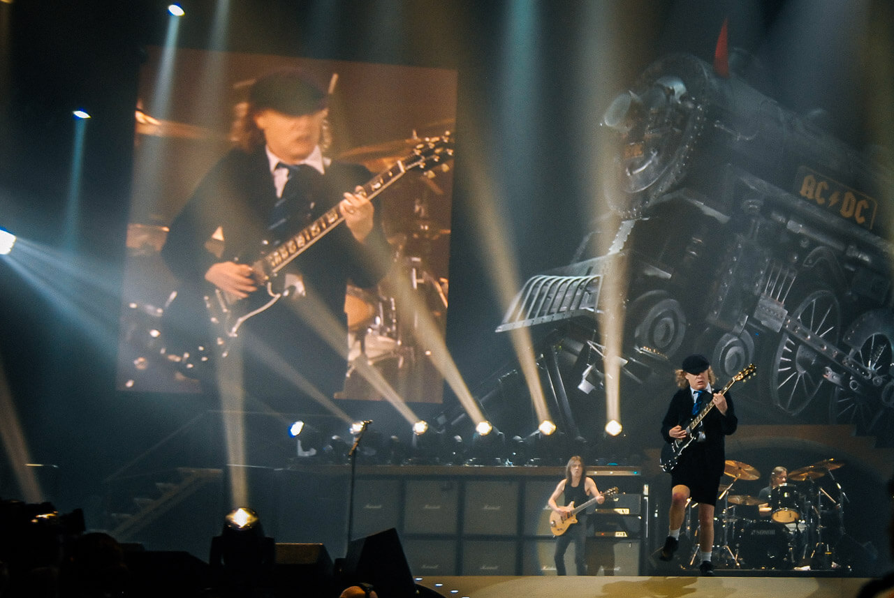 Angus Young mit AC DC in München