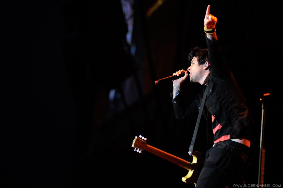 Headliner Greenday in Action