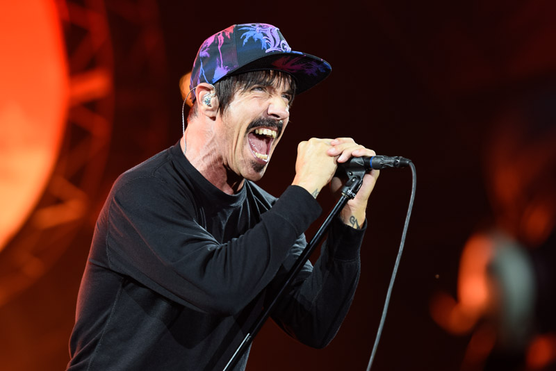 Foto von Anthony Kiedis, Sänger der Red Hot Chilli Peppers