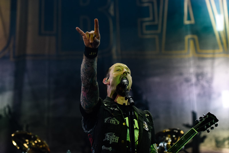 Foto von Michael Poulsen ( Volbeat ) live bei Rock am Ring 2016