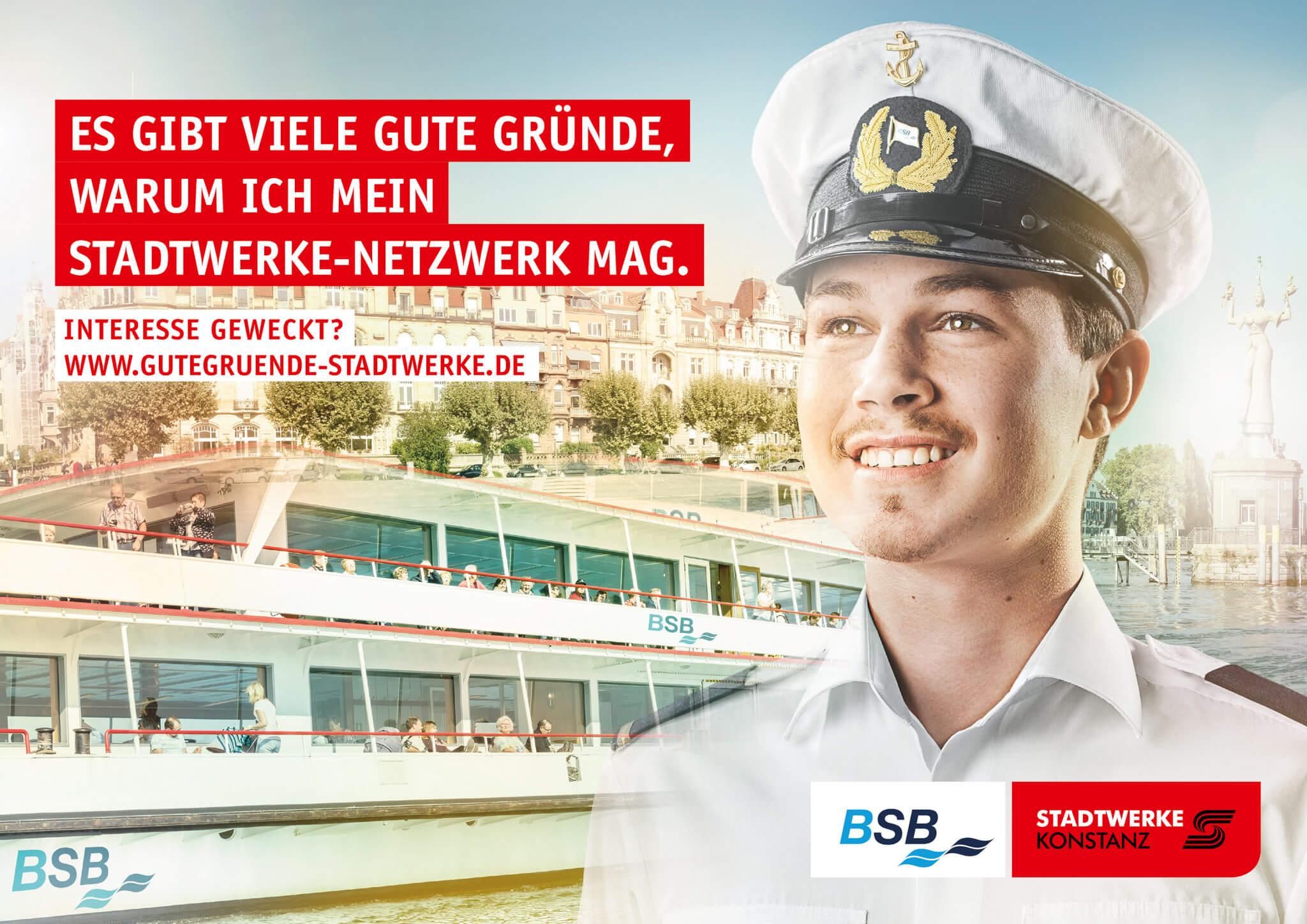 Arbeitgeberkampagene Stadtwerke Konstanz / BSB Fotograf: Bjørn Jansen